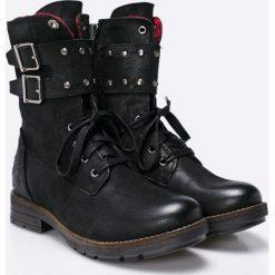 S. Oliver - Botki. Szare buty zimowe damskie marki S.Oliver, z gumy. W wyprzedaży za 269,90 zł.