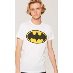 T-shirt Batman - Biały. Białe t-shirty męskie House, l, z motywem z bajki. Za 39,99 zł.