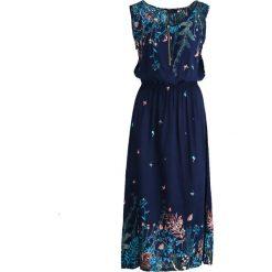 Sukienki hiszpanki: Granatowa Sukienka Butterfly Wing