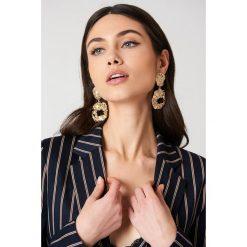 Kolczyki damskie: Tranloev Wiszące kolczyki z teksturą – Gold