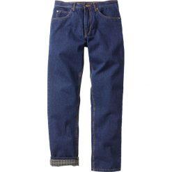 """Dżinsy ocieplane """"CLASSIC FIT"""" bonprix ciemnoniebieski. Niebieskie jeansy męskie relaxed fit marki bonprix. Za 124,99 zł."""