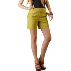 Bermudy damskie: Szorty w kolorze żółtym