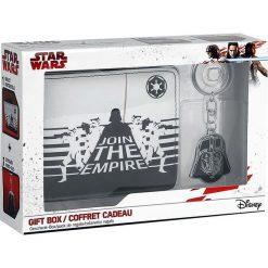 Star Wars Geschenkbox Portfel czarny/biały. Białe portfele męskie Star Wars, z motywem z bajki. Za 79,90 zł.