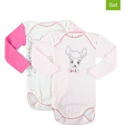 Body niemowlęce: Body (2 szt.) w kolorze biało-jasnoróżowym