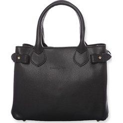 """Torebki klasyczne damskie: Skórzana torebka """"Deborah"""" w kolorze czarnym – 25 x 19,5 x 12 cm"""