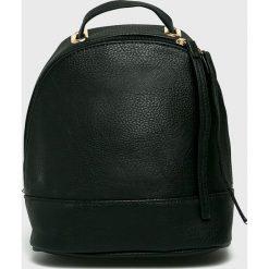 Answear - Plecak. Czarne plecaki damskie ANSWEAR, ze skóry ekologicznej. W wyprzedaży za 59,90 zł.