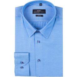 Koszula SIMONE KDNS000197. Niebieskie koszule męskie na spinki Giacomo Conti, m, z materiału, z klasycznym kołnierzykiem, z długim rękawem. Za 149,00 zł.