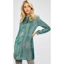 Answear - Koszula Stripes Vibes. Szare koszule damskie marki ANSWEAR, l, w paski, z bawełny, casualowe, ze stójką, z długim rękawem. W wyprzedaży za 79,90 zł.