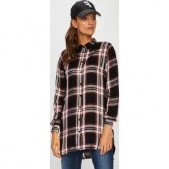 Only - Koszula. Czarne koszule damskie w kratkę marki ONLY, l, z materiału, z kapturem. Za 129,90 zł.