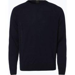 Swetry męskie: BOSS – Męski sweter z wełny merino – Obarni-WS, niebieski