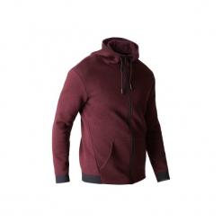 Bluza na zamek z kapturem Gym & Pilates 560 męska. Czerwone bluzy męskie rozpinane marki KALENJI, m, z elastanu, z długim rękawem, długie. Za 129,99 zł.