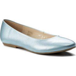Baleriny BALDACCINI - 101950-Ł Floter 9. Niebieskie baleriny damskie marki Baldaccini, ze skóry, na płaskiej podeszwie. W wyprzedaży za 169,00 zł.