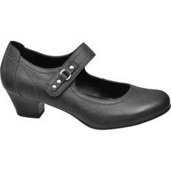 Czółenka damskie Graceland popielate. Szare buty ślubne damskie Graceland, w paski, z materiału, na obcasie. Za 55,00 zł.