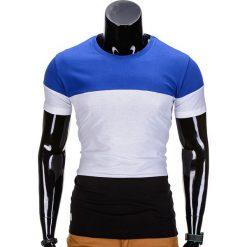 T-SHIRT MĘSKI BEZ NADRUKU S836 - NIEBIESKI. Niebieskie t-shirty męskie z nadrukiem Inny, m. Za 29,00 zł.