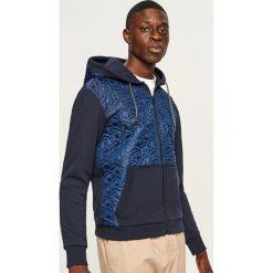 Pikowana bluza z kapturem - Granatowy. Niebieskie bluzy męskie rozpinane marki QUECHUA, m, z elastanu. Za 99,99 zł.