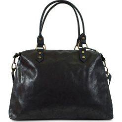 """Torebki klasyczne damskie: Skórzana torba """"Karine"""" w kolorze czarnym – 43 x 34 x 13 cm"""