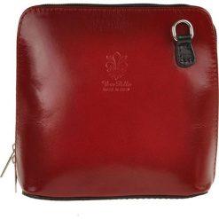 Torebki klasyczne damskie: Skórzana torebka w kolorze czerwonobrązowym – 16 x 16 x 8 cm