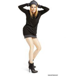 Sukienki dresowe: Sukienka dresowa typu bluza czarna
