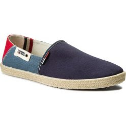 Espadryle męskie: Espadryle TOMMY JEANS – Summer Slip On Shoe EM0EM00027 Ink/Jeans/Tango Red 902