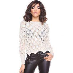 """Swetry klasyczne damskie: Sweter """"Maxime"""" w kolorze beżowym"""