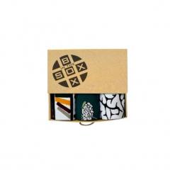 Box dla Inteligenta - Skarpetki. Brązowe skarpetki męskie Sox in the box, z bawełny. Za 80,00 zł.
