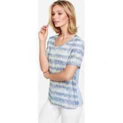 Bluzki asymetryczne: Koszulka z rękawem o dł. 1/2 i graficznym nadrukiem
