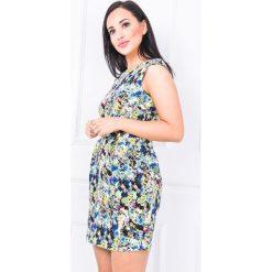 Sukienki balowe: Kwiecista sukienka bombka z kokardką
