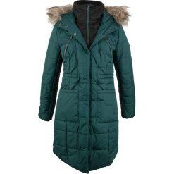 Płaszcz pikowany w optyce 2 w 1 bonprix niebieskozielony. Niebieskie płaszcze damskie bonprix. Za 269,99 zł.
