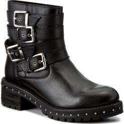 Botki BRONX - 46947-A BX 1417 Black/Silver 187. Czarne buty zimowe damskie marki Bronx, z materiału. W wyprzedaży za 309,00 zł.