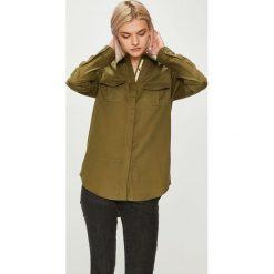 Roxy - Koszula. Brązowe koszule damskie marki Roxy, l, z bawełny, casualowe, z klasycznym kołnierzykiem, z długim rękawem. Za 279,90 zł.