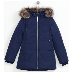 Kurtka w kolorze granatowym. Niebieskie kurtki dziewczęce zimowe marki Lemon Fashion. W wyprzedaży za 129,95 zł.
