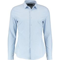 Koszule męskie na spinki: Topman MUSCLE FIT Koszula biznesowa light blue