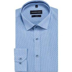 Koszula SIMONE slim KDNS000452. Niebieskie koszule męskie na spinki Giacomo Conti, na lato, m, z bawełny, z klasycznym kołnierzykiem, z długim rękawem. Za 149,00 zł.