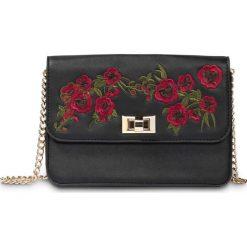 Torebka z haftem bonprix czarno-czerwony klonowy - złoty kolor. Czarne torebki klasyczne damskie bonprix, z haftami, zdobione, z haftem. Za 74,99 zł.