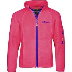 Polar ''Arendal'' w kolorze różowo-fioletowym. Czerwone kurtki dziewczęce przeciwdeszczowe marki Trollkids, z aplikacjami, z materiału. W wyprzedaży za 77,95 zł.