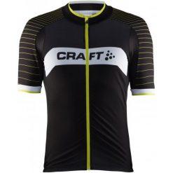 Craft Męska Koszulka Rowerowa Gran Fondo Czarny/Żółty S. Czarne odzież rowerowa męska marki Craft, m, z materiału, z krótkim rękawem. W wyprzedaży za 259,00 zł.