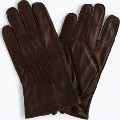 James - Skórzane rękawiczki męskie, brązowy. Brązowe rękawiczki męskie James, ze skóry. Za 199,95 zł.
