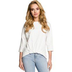 PHOENIX Bluza z gumką z przodu - ecru. Szare bluzy rozpinane damskie Moe, s, z dzianiny, z krótkim rękawem, krótkie. Za 109,00 zł.