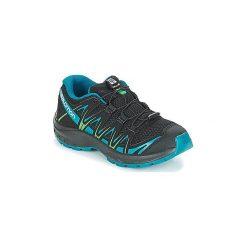 Buty Dziecko Salomon  XA PRO 3D J. Czarne buty sportowe chłopięce marki Salomon, z gore-texu, na sznurówki, outdoorowe, gore-tex. Za 231,20 zł.
