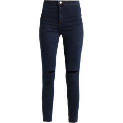 Rurki damskie: Missguided VICE HIGH WAISTED KNEE SLASH  Jeans Skinny Fit blue