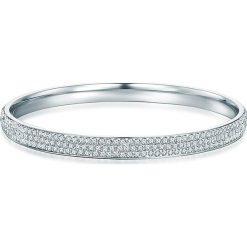 Bransoletki damskie na nogę: Posrebrzana bransoletka z kryształkami