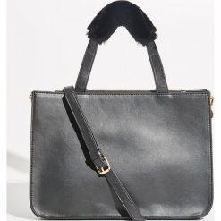 Torba z miękkim uchwytem - Czarny. Czarne torebki klasyczne damskie Sinsay. Za 79,99 zł.