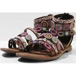 Rzymianki damskie: Lazamani Sandały z cholewką brown