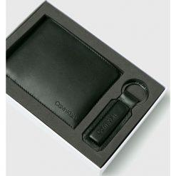 Calvin Klein - Portfel skórzany. Szare portfele męskie marki Calvin Klein, z materiału. Za 299,90 zł.