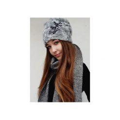 Czapki zimowe damskie: Czapka CHAPOOSIE Silver Beanie & Frozen Flowers