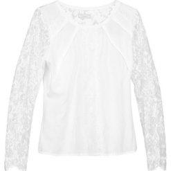 Bluzki asymetryczne: Cream VIVA Bluzka chalk