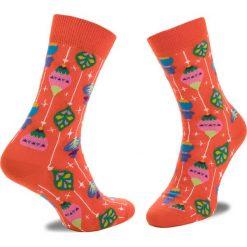Skarpety Wysokie Unisex HAPPY SOCKS - BAU01-4000 Kolorowy Pomarańczowy. Brązowe skarpetki damskie Happy Socks, w kolorowe wzory, z bawełny. Za 34,90 zł.
