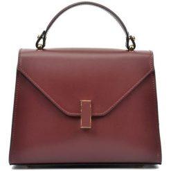 Torebki klasyczne damskie: Skórzana torebka w kolorze bordowym – (S)20 x (W)24 x (G)10 cm