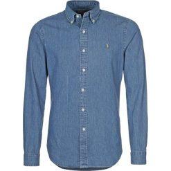 Polo Ralph Lauren SLIM FIT Koszula dark wash. Szare koszule męskie slim marki Polo Ralph Lauren, l, z bawełny, button down, z długim rękawem. Za 569,00 zł.