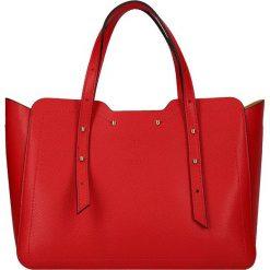 """Torebki klasyczne damskie: Skórzana torebka """"St. Dominique"""" w kolorze czerwonym – 29 x 21,5 x 11 cm"""